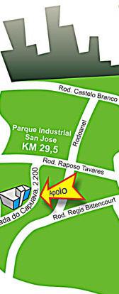Localização da Apolo