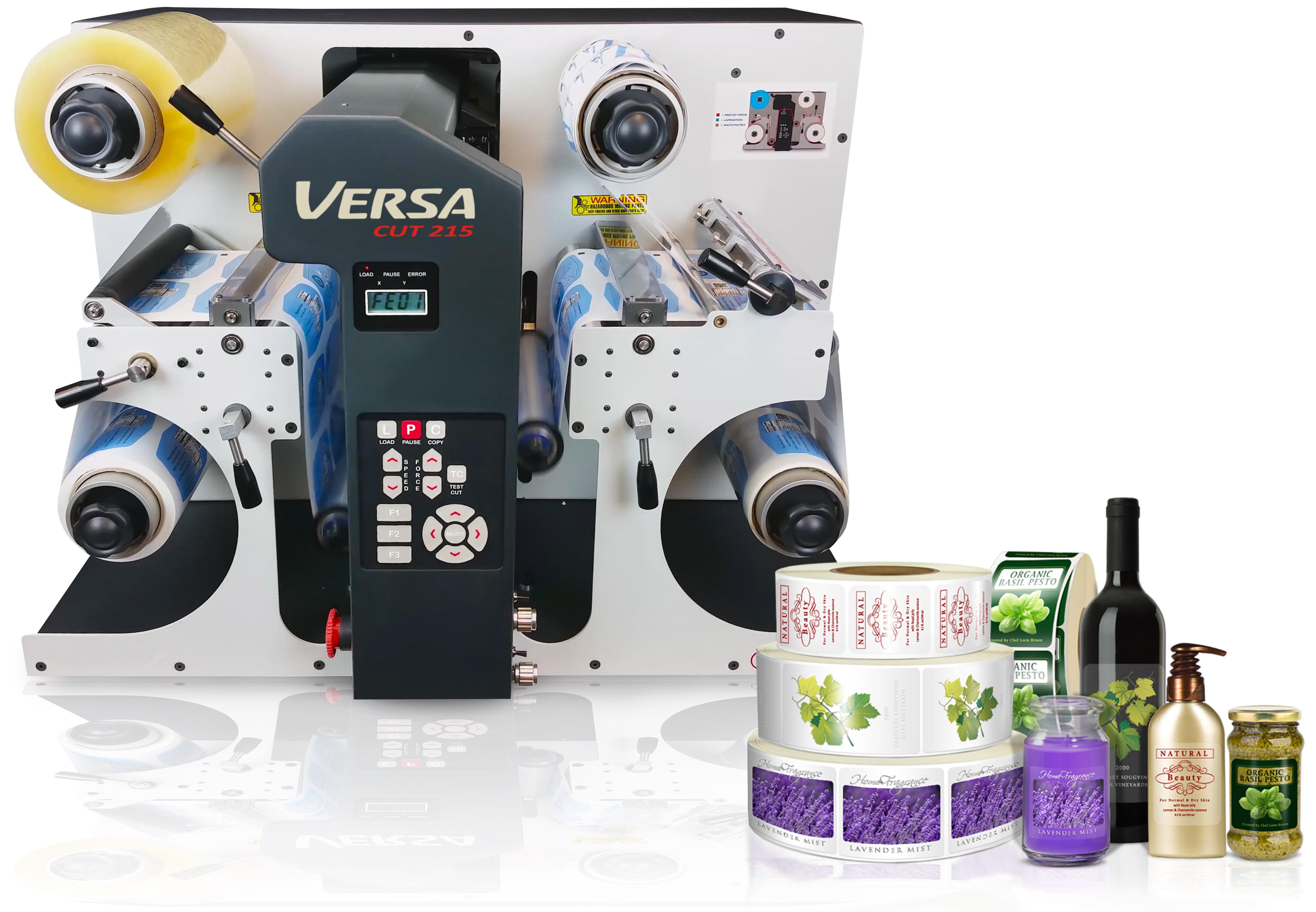 VersaCut 215 - Sistema de Acabamento Digital para Rótulos e Etiquetas Autoadesivas