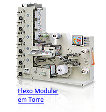 VersaFlex - Impressoras Flexográficas Modulares em Torre com Acabamentos em Linha